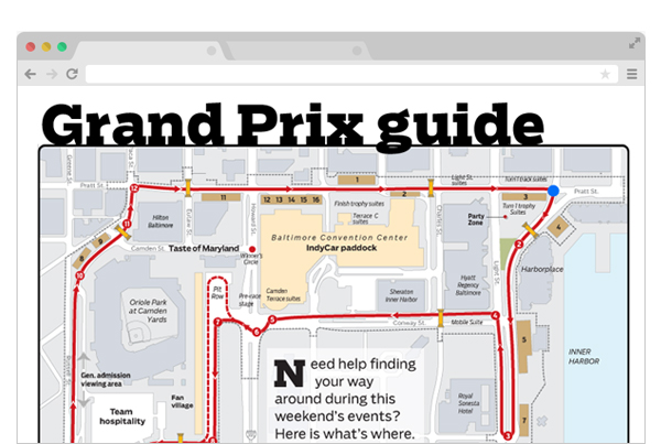 Baltimore Grand Prix interactive