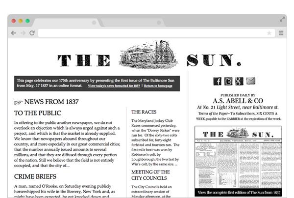 Sun 175 Anniversary