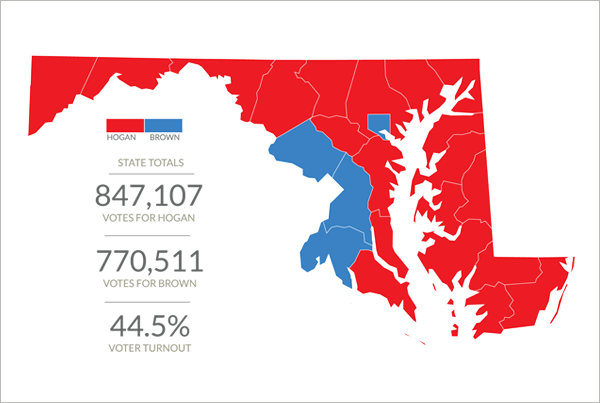 Graphic: How did Maryland vote for governor?