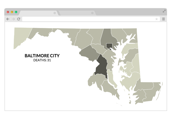 Graphic: Police encounters leading to death disproportionately affect blacks in Maryland