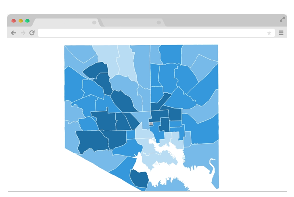Graphic: Mapping inequalities in Baltimore's neighborhoods
